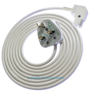 3m White Right Angled Iec C13 Kettle Angle Power Cable