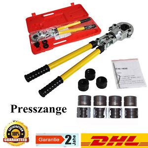 Rohrpresszange-Presszange-TH-Kontur-Verbundrohr-Pex-16-32-mm-360-drehbarer-Kopf