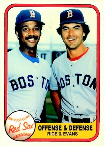 JIM RICE DWIGHT EVANS OFFENSE DEFENSE ACEO ART CARD ##FREE COMBINED SHIPPING###