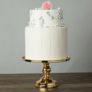 Image Is Loading 12 034 Gold Plated Mirror Cake Stand Round
