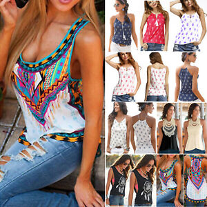 Womens-Boho-Tank-Tops-Sleeveless-Loose-Vest-Blouse-Summer-Casual-T-shirt-Cami-US