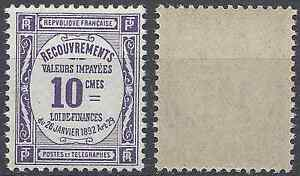 FRANCE-TIMBRE-TAXE-N-44-NEUF-LUXE-GOMME-D-039-ORIGINE-MNH