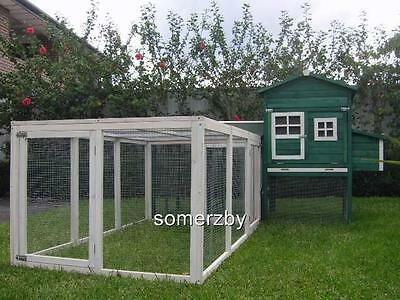 Chicken Coop LARGE Somerzby Green MANSION and RUN Rabbit Hutch Cat Enclosure