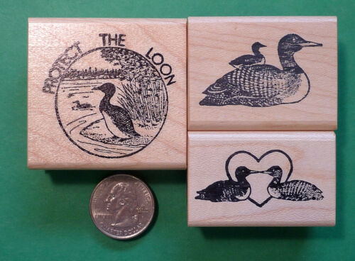 Protect the Loon 3-piece Rubber Stamp Combo
