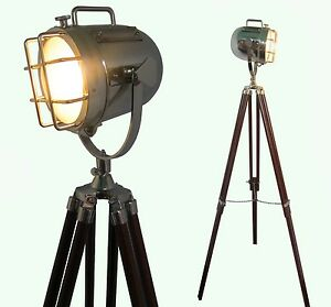 lampe sol maison d corative design vintage tr pied clairage projecteur spot ebay. Black Bedroom Furniture Sets. Home Design Ideas