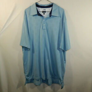 ADIDAS-Climacool-Mens-Short-Sleeve-Polo-Golf-Shirt-Blue-Size-XXL-2XL