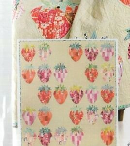 Mod-Strawberries-pieced-quilt-PATTERN-by-Sew-Kind-of-Wonderful