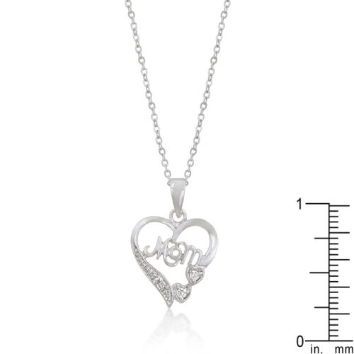 Mom Heart Shape Pendant Necklace A Perfect Gift For Mom Mothers Day