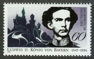 Germany-1986-MNH-Mi-1281-Sc-1460-King-Ludwig-II-of-Bavaria-Neuschwanstein-Castle