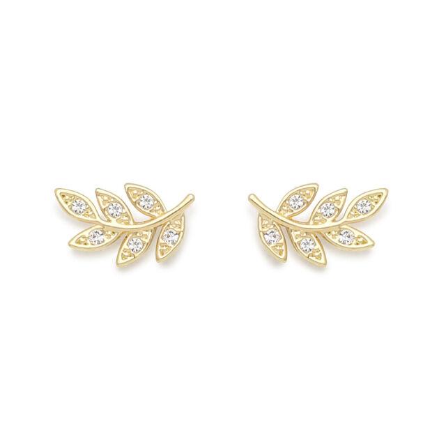 Celebrity Style Jewelry Stud Earrings 925 Sterling Silvers
