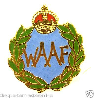 WAAF Womens Auxiliary Air Force Lapel Pin Badge