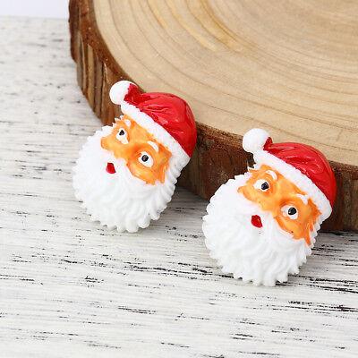 GORGEOUS FATHER XMAS SANTA CHRISTMAS FLATBACK RESIN CAB EMBELLISHMENTS