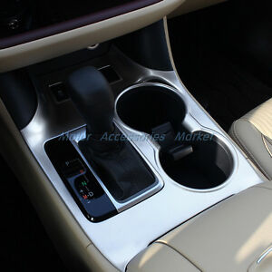 chrome interior gearshift knob cup holder cover trim for highlander 2014 2017 ebay. Black Bedroom Furniture Sets. Home Design Ideas