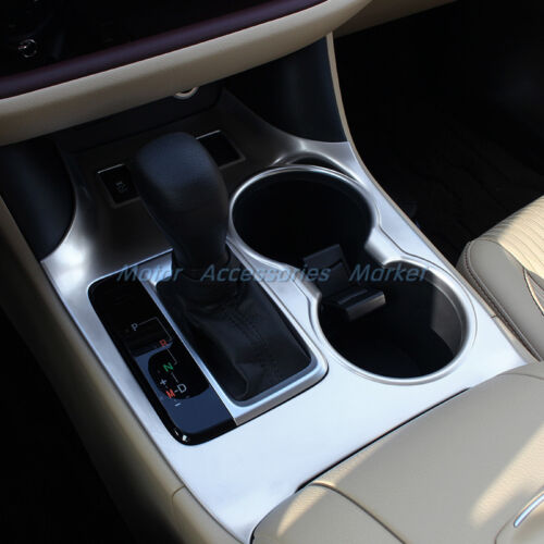 Chrome Interior Gearshift Knob Cup Holder Cover Trim for Highlander 2014-2018