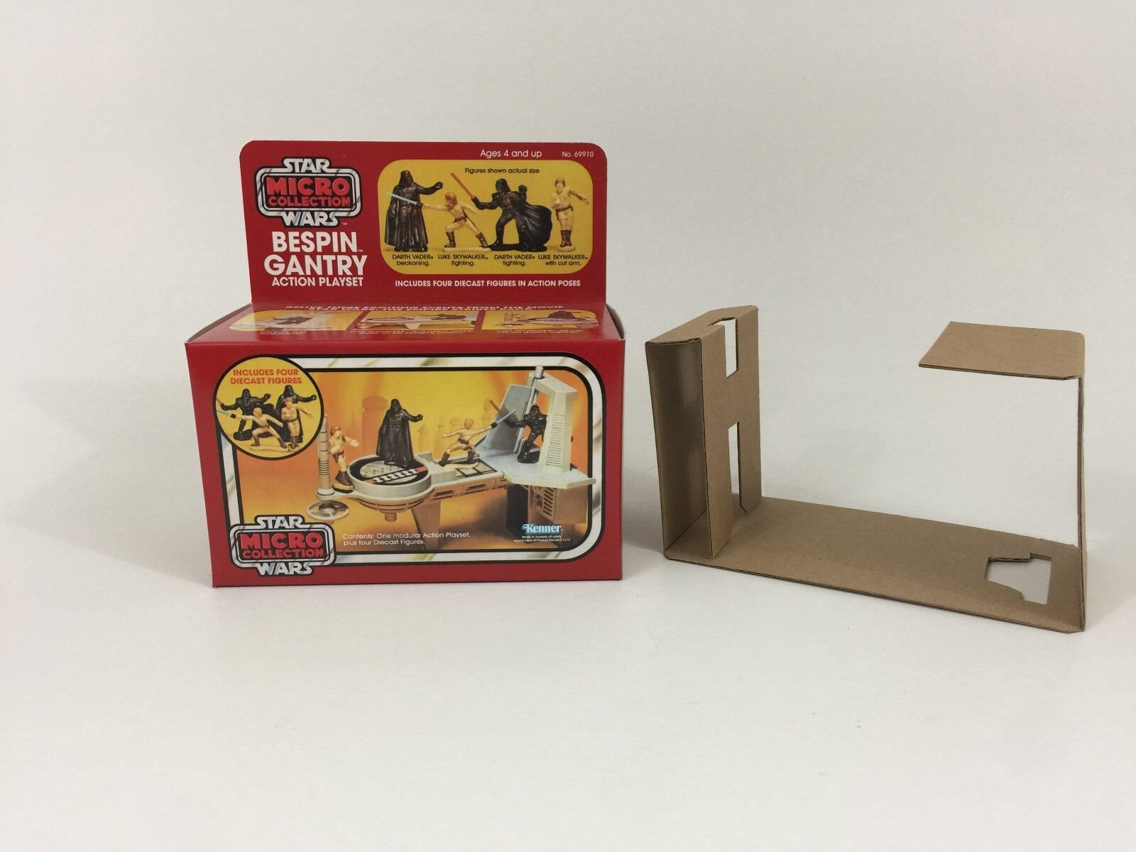 Replacement vintage star wars micro collection bespin gantry box + inserts