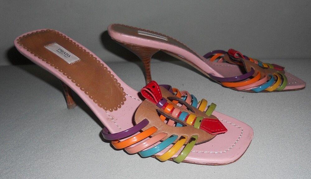 Prada sandalias sandalias rosa multicolor