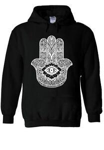 Hamsa Hand Defend Evil Hoodie Sweatshirt Jumper Men Women Unisex 1329