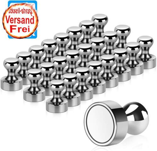 24 Stück Extrem Stark Metall Magneten Edelstahl Kegelmagnete Pinnwand