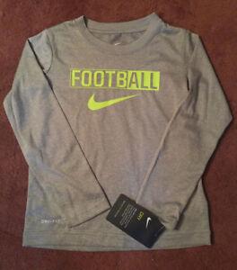 a56db84fa7ae6 NIKE Boy s Dri-FIT LEGEND FootbALL Long Sleeve T-Shirt    GREY VOLT ...