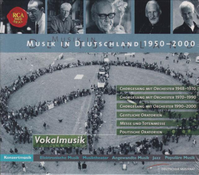 MUSIK IN DEUTSCHLAND 1950-2000 Konzertmusik: Vokalmusik 6 CDs, NEU OVP