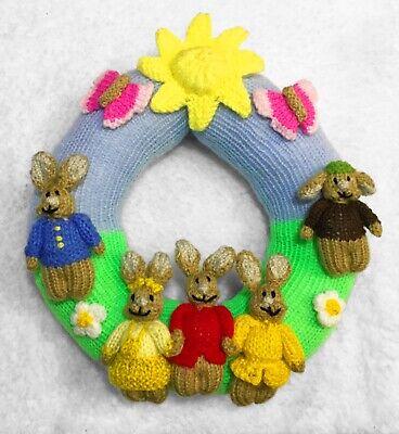 Tejer patrón-Pascua Decoración Para Colgar en guirnalda de Peter Rabbit inspirado 22 CMS