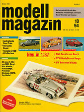 Modell Magazin 10/94 Mercedes VW DTM Fiat Alfa Mercedes Yamaha Wiking Herpa