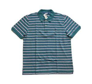 Brooks-Brothers-Golden-Fleece-Performance-Pique-Striped-Polo-Shirt-Slim-Mens-XXL