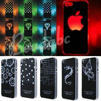 For iPhone 4 4S 5 5S 5C Flash Light Case Cover Skin LED Color Change Protector