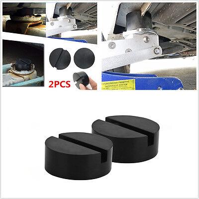 2 PCS black Universal Slotted Frame Rail  Floor Jack Disk Rubber Pad Adapter
