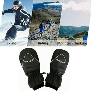 Mens-Ski-Gloves-Large-Winter-Mittens-Waterproof-Insulated-Snow-Boarding-Golf-US
