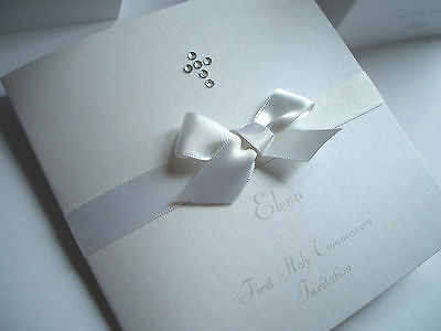 5X Christening /Baptism / First Holy Communion HANDMADE PERSONALISED INVITATIONS