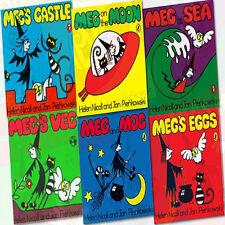 Meg and Mog 6 Books Collection Set (Meg's Eggs, Meg's Castle, Meg at Sea) New