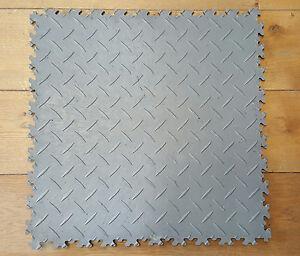 ECO-GRIGIO-DIAMOND-PVC-Officina-Garage-Terra-CERAMICA-PIASTRELLA-clic-posa