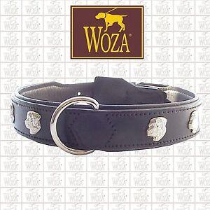 Premium-Hundehalsband-Rottweiler-WOZA-Lederhalsband-Rindnappaleder-Collar-HG2281