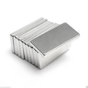 5-10Pcs-N50-20x10x2mm-Neodyme-Bloc-Aimant-Magnet-Fort-Puissant-Rare-Terre