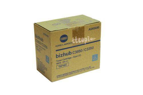 Genuine Konica Minolta A5X0430 TNP48C Cyan Toner for Bizhub C3350 C3850