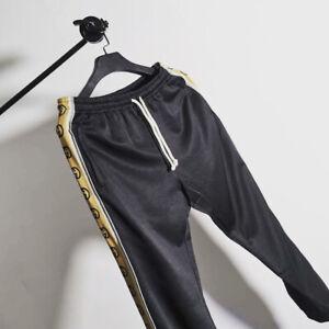Gucci Gg Tecnico Negro Para Hombre Jersey Jogging Pantalones Talla M Excelente Estado Ebay