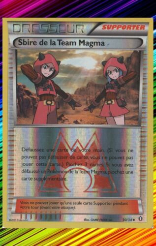 Sbire de la Team Magma Rev-XY-:Double Danger-30//34-Carte Pokemon Neuve Française