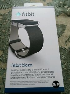 Strap Leather Size Black Accessory Small Fitbit Blaze xf0Zqq