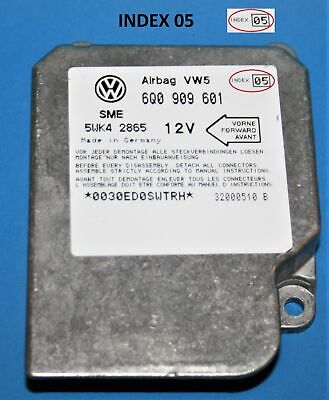 6Q0 909 601 INDEX 03 VW POLO MK5 AIRBAG CONTROL UNIT MODULE SENSOR 6Q0900601