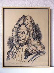 Ludwig-XIV-der-Sonnenkoenig-Leo-Grim-Saarlouis-Tusche-Zeichnung-Bild-Gemaelde