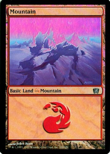 Various conditions MTG Mountain #344 8th Edition Foil