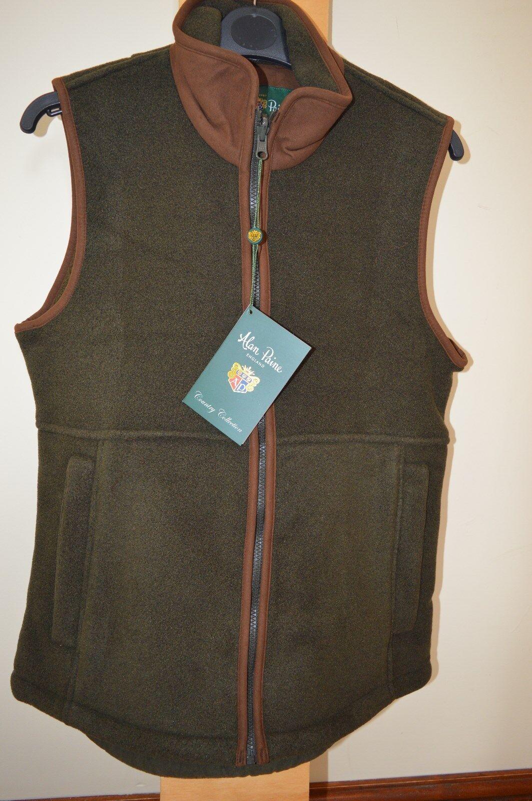 Alan Paine Ladies Aylsham Fleece Waistcoat Green Size 14. 36