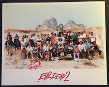 EVIL DEAD 2 1986 CASTLE/CAST & CREW 8 x 10 PHOTO AUTOGRAPHED/SIGNED RARE