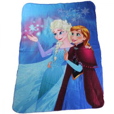 Frozen die Eiskönigin Elsa /& Anna Fleecedecke Kinderdecke Kuscheldecke 100x150cm