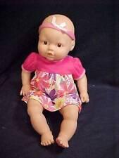 "Doll ~ 14"" Baby Doll in Pink Floral Dress & Headband Vinyl & Fabric 2001 - EUC"