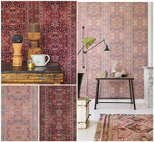 Tapete Orientalisches Muster vlies tapete orientalisches wandteppich muster bordeaux rot