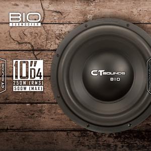 CT-Sounds-Bio-2-0-10-Inch-D4-250-Watt-RMS-10-034-Dual-4-Ohm-Car-Audio-Subwoofer-Sub