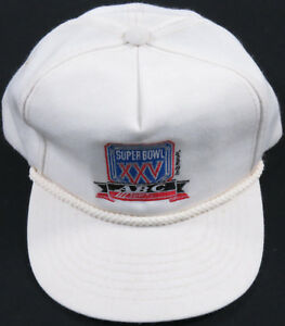 Sports Mem, Cards & Fan Shop Fan Apparel & Souvenirs Vintage New Era Super Bowl XXV Hat Cap 25 New York Giants Buffalo Bills Snapback