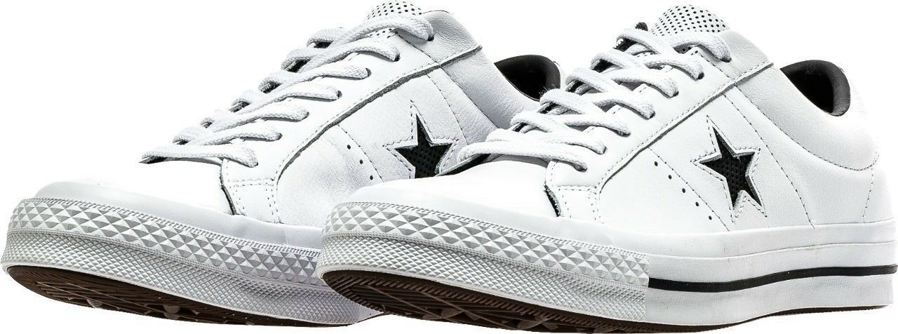 Men's CONVERSE One Star OX Perf Leather Low Top Men's Lifestyle Comfy Sneakers s